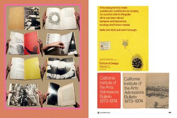EMFR, featuring Sheila de Bretteville's design of Arts in Society Vol 7 #3 and CalArts 1973–74 Admissions Bulletin