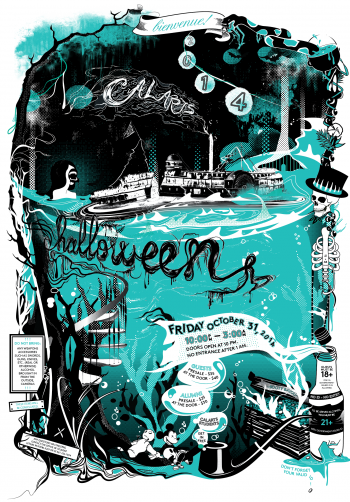 Halloween poster by BFA studentsAngie BacandJessie Zo