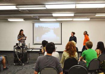 Visiting Designer Lecture Series Coordinator, Eline Mul, introduces Emily Luce &Rodney Sayers