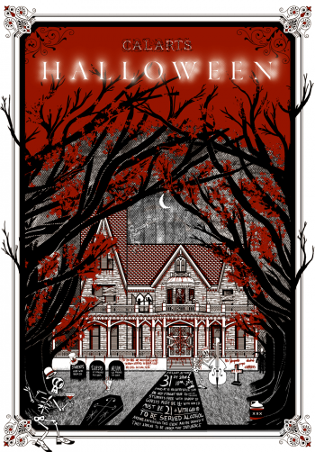 Halloween poster by BFA students Jono Freeman and Brian Thompsen
