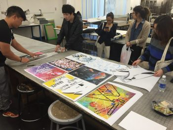 In the print lab, getting ready for crit…