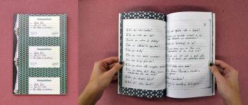 Question Book, artist participant: Justin Hunt, designer: Jessica Kao (MFA 2)