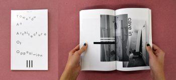 Towards an Architecture of Opposition, artist participant: Melissa J. Frost, designer: Angela Bac (BFA 4) & Christine Shen (BFA 4)