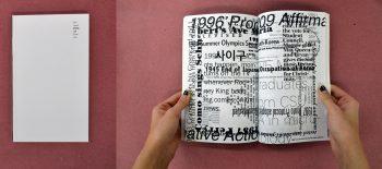 Personal Political Timeline, artist participant: Grace Hwang, designer: Cassandra Cisneros (MFA 2)