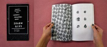 7 Gifs, artist participant: Russell Etchen, designer: Hayden Smith (MFA 2)