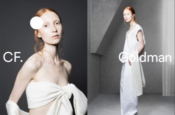 CF. Goldman, branding for womenswear label launched by Chelsea Goldman
