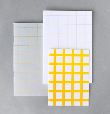 Yellow Grid by Line journals from still room, 2015