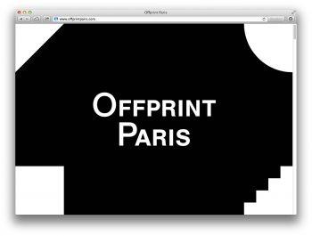 Website for Offprint Paris,an art-publishing fair, 2014