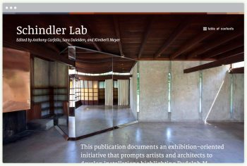 Schindler Lab landing page, designed by Yay Brigade (Roman Jaster and Nicole Jaffe)