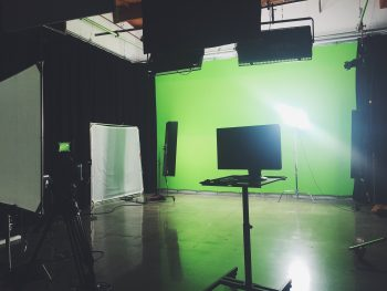 Green screen stage from Jaime Van Wart's (MFA2 Motion) internship at Blind
