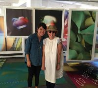 MFA1 Sharleen Chen with April Grieman at her studio Made In Space.