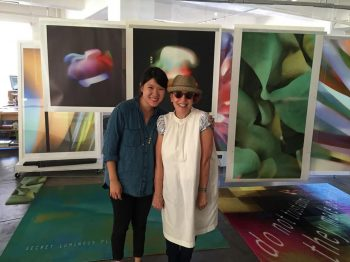 Sharleen Chen (MFA1) with April Greiman at her studio Made In Space.