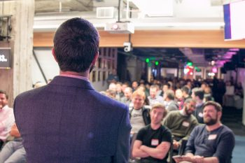 Golden lecturing in San Francisco.