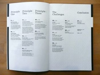 Table of contents of The Best Interface Is No Interface.
