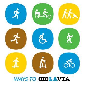 CicLAvia branding icons