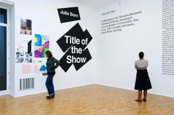 Exhibition design by Julia Born