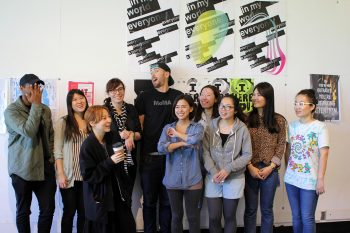 Anette Lenz and her students after the workshop