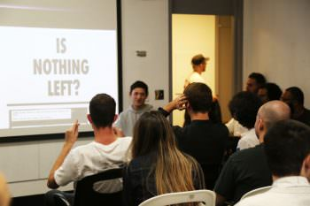 David Rudnick answers questions from the BFA and MFA students.
