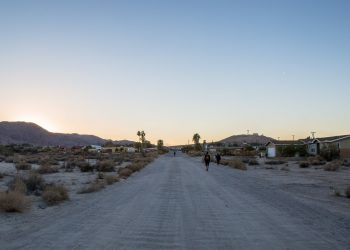 Recording the desert ambiance at twilight