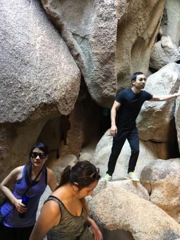 Exploring therock formations of Joshua Tree National Park