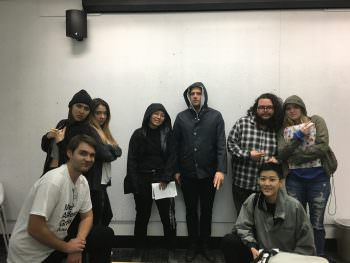 Brian with BFA students