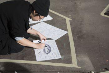 Alyson Tonoffun Yee works on her fictional territory