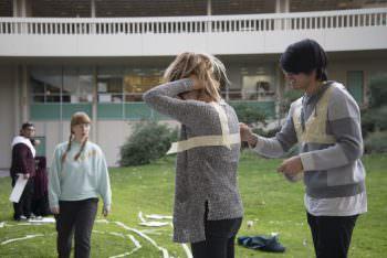 CalArts BFAs AIexander Cheng as Es Youn mapping their fictional territories.