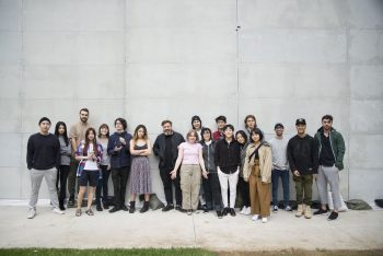 Eike König and CalArts graphic design students after the workshop