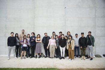 Eike König and CalArts graphic design students after the workshop