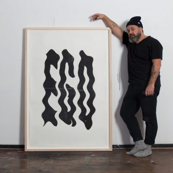 Eike König with Ego print