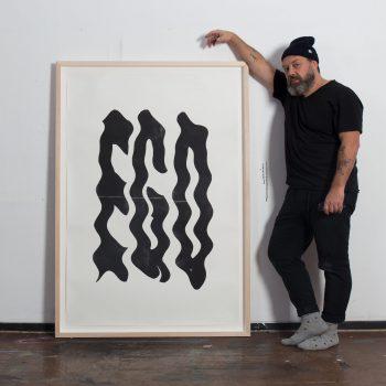 Eike König with Ego print