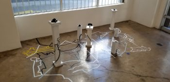 Installation image featuring work from Yinchen Niu