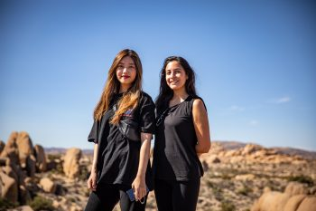 Minjoo and Vivian Naranjo grace the landscape. Photo by Colin Frazer.