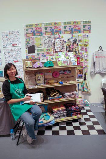 Xiyu Deng ready for customers.