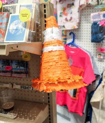 The traffic cone piñata.